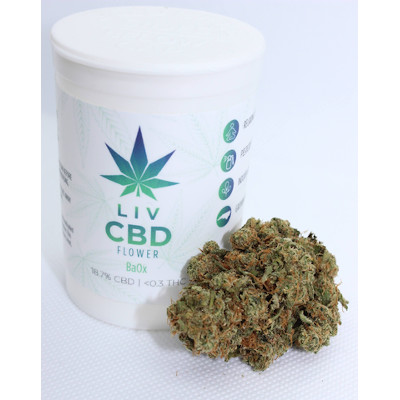BaOX cbd flower and container